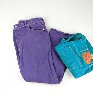 LEVI STRAUSS & CO 501 Button Fly Purple